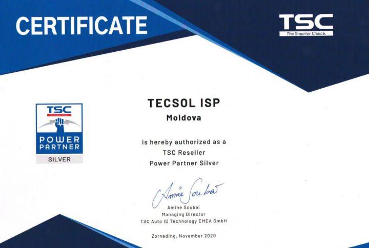 Compania Tecsol este distribuitor oficial al echipamentelor comerciale TSC în Republica Moldova!