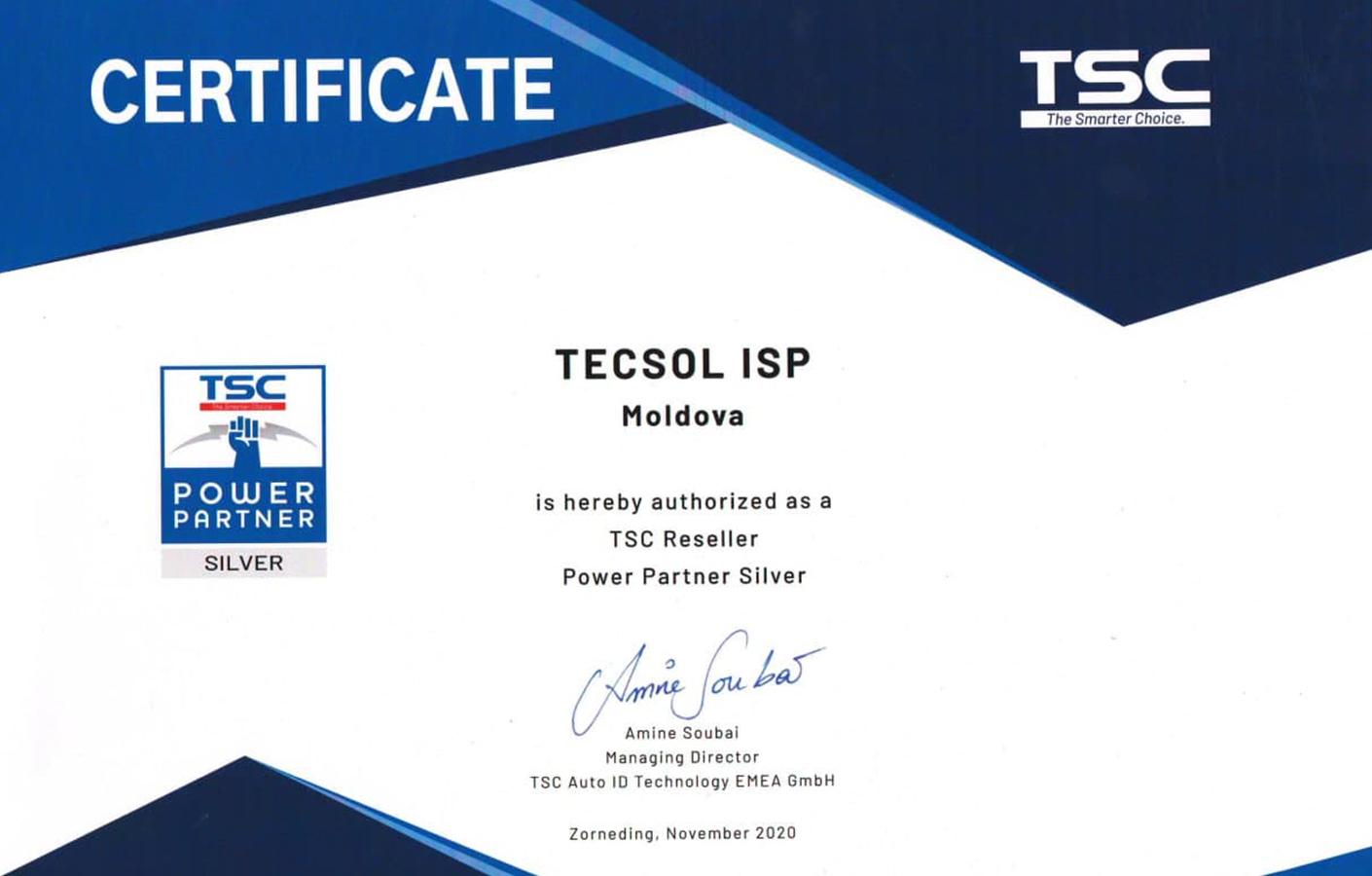 certificat TSC